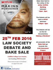 Griffith College Law Society hosts debate on Making a Murderer